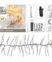 Feest clusterverlichting warm wit buiten 1152 lampjes 10105208