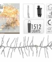 Feest clusterverlichting warm wit buiten 1512 lampjes
