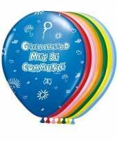 Feest communie ballonnen 8 stuks