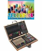 Feest complete teken schilder doos 88 delig met een a3 schetsboek