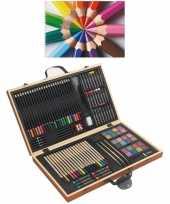 Feest complete teken schilder doos 88 delig met een a4 schetsboek