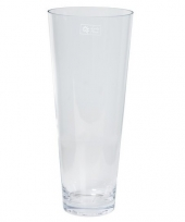 Feest conische vaas helder glas 18 x 43 cm