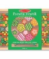 Feest creatieve kralenset met bloemen