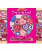 Feest creatieve kralenset met hartjes