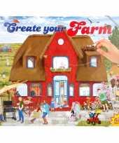 Feest creeer je eigen boerderij wereld stickerboek voor jongens