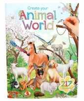 Feest creeer je eigen dieren wereld stickerboek voor jongens