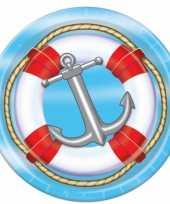 Feest cruise thema bordjes 8 stuks