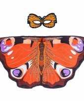 Feest dagpauwoog vlinder verkleedset voor meisjes