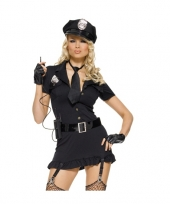 Feest dames kostuum set sexy politie