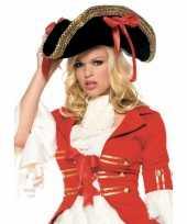 Feest dames piraten hoed met goud