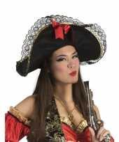 Feest dames piratenhoed met strik