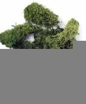 Feest deco mos donkergroen 200 gr