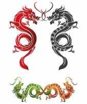 Feest decoratie chinees stickers xxl tattoo