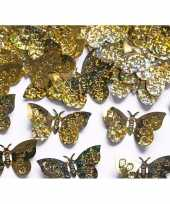 Feest decoratie confetti gouden vlinders 60 gram