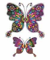 Feest decoratie dieren tattoo vlinder