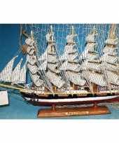 Feest decoratie houten model schip preussen 50 cm