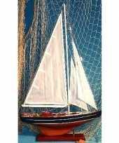 Feest decoratie houten model zeilschip 65 cm
