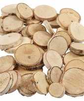 Feest decoratie houten schijfjes 140 stuks