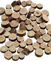 Feest decoratie houten schijfjes 230 gr
