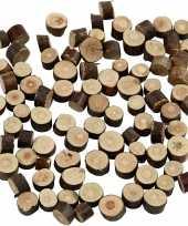 Feest decoratie houten schijfjes 230 gram