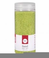 Feest decoratie materiaal groen zand