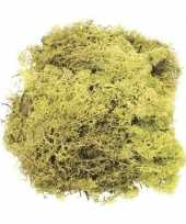 Feest decoratie mos lichtgroen 50 gram