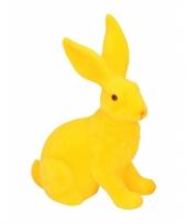 Feest decoratie paashazen geel 23 cm