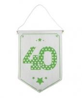 Feest decoratie vlaggetje vaantje 40 jaar