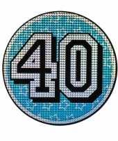 Feest decoratiebord 40 jaar holografisch