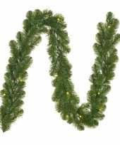 Feest dennenslinger dennen guirlande groen met verlichting 20 x 270 cm