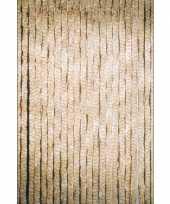 Feest deurgordijn beige 22 slierten 90x200 cm