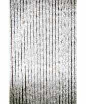 Feest deurgordijn wit grijs 22 strengen 90x220 cm