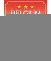 Feest deurposter belgie rood