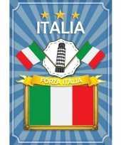 Feest deurposter forza italia blauw