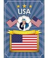 Feest deurposter united states of america