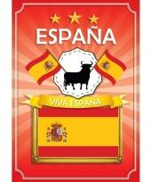 Feest deurposter viva espana rood