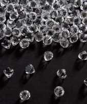 Feest diamantjes transparant 9 mm 81 gram