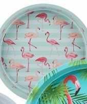 Feest dienblad flamingo mint 33 cm