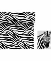 Feest dieren thema tafeldecoratie set zebra tafelloper servetten