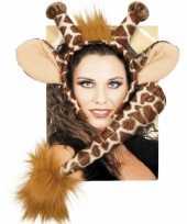 Feest dieren verkleedset giraffe