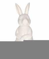 Feest dierenbeeld haas konijn wit 30 cm
