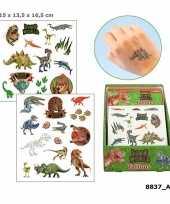 Feest dinosaurus plak tattoos voor jongens dino world
