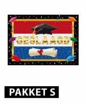 Feest diploma behaald versiering pakket