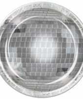 Feest disco bal wegwerp bordjes 8 stuks