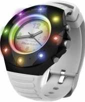 Feest disco horloge voor kinderen volwassenen wit bandje