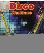 Feest disco ketting goud