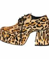 Feest disco luipaard print schoenen heren