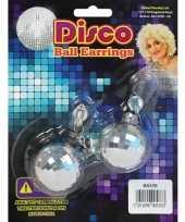Feest discobal oorbellen klemmetjes
