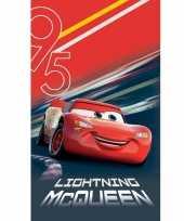 Feest disney cars lightning mcqueen badlaken strandlaken 70 x 120 cm