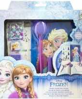 Feest disney frozen maak je eigen dagboek set voor meisjes